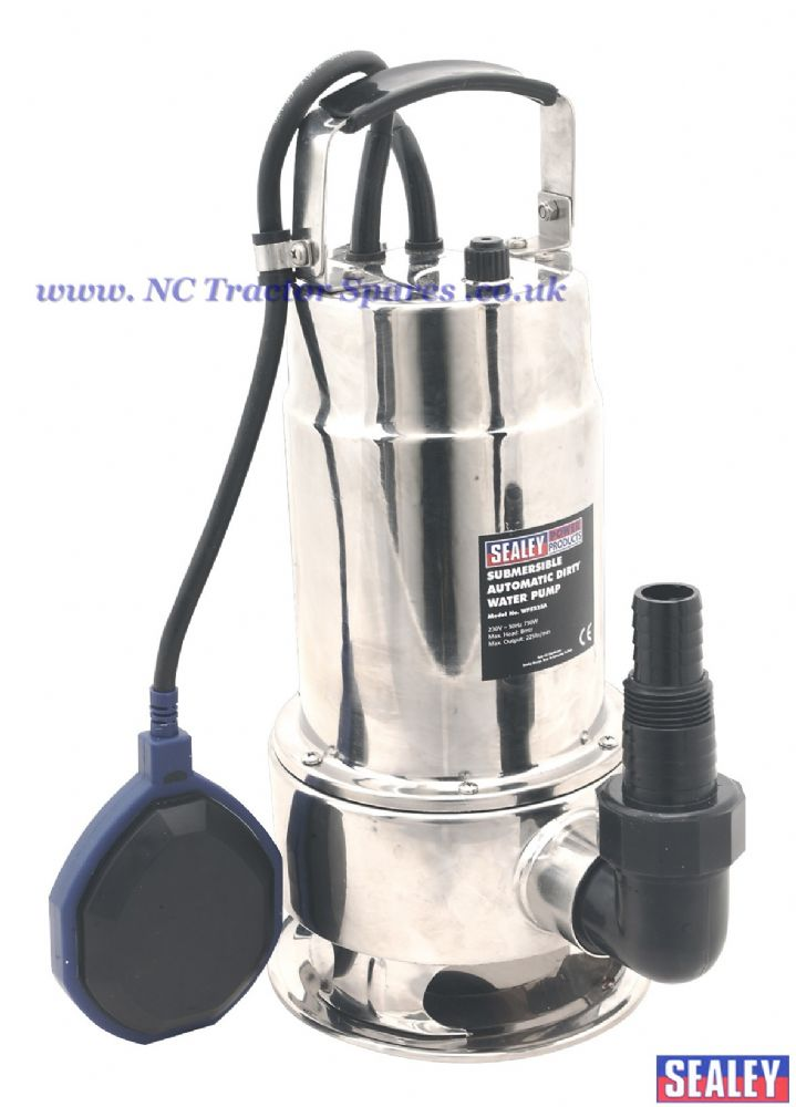 Submersible Stainless Water Pump Automatic 225ltr/min 230V